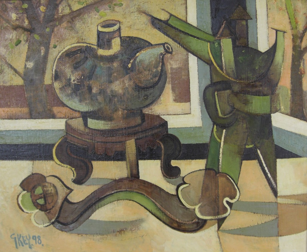 Geoffrey Key Still life with Chinese Objects 3