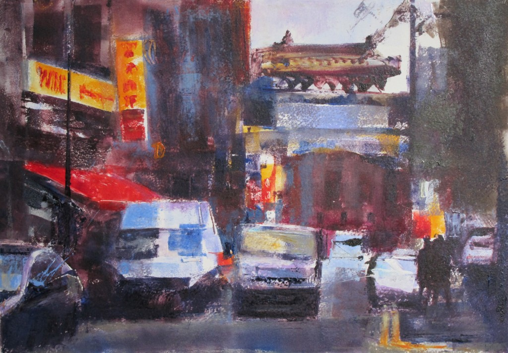 Traffic in Chinatown