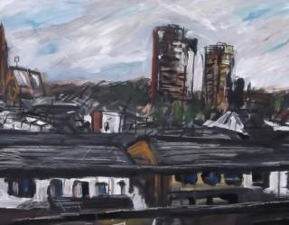 Demolishing Wenlock Flats, From Train