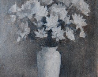 19. Alan J Thompson. White Chrysanths