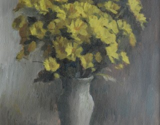 20. Alan J Thompson. Yellow Chrysanths