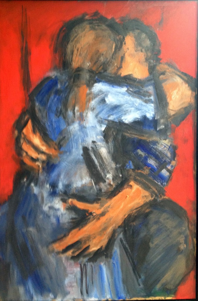30. Ghislaine Howard. Embracing Couple Red