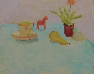 22. Gina Ward. Still Life with Pony & Pear