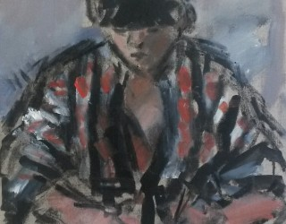 31. Ghislaine Howard. Girl in Striped Robe