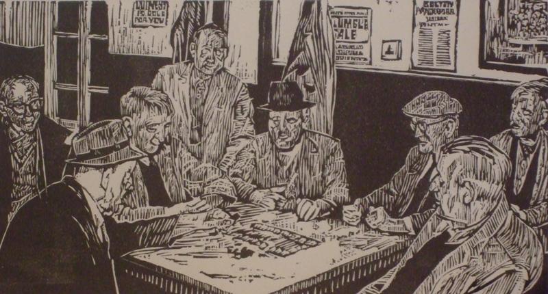 55. Roger Hampson. Domino Players 1V