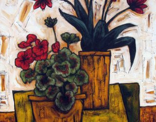 Still Life with Red Flowers